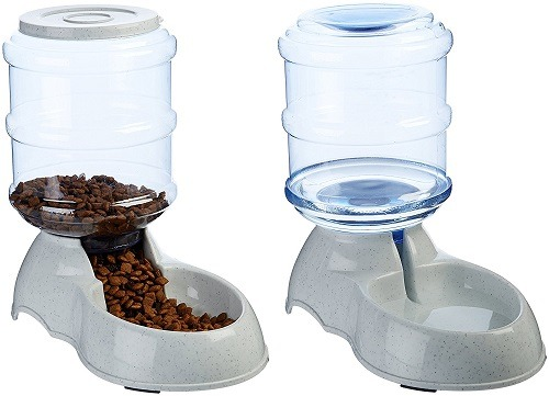 AmazonBasics Self-Dispensing Gravity Pet Feeder and Waterer review