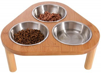 Miss Meow Raised Feeder with 3 Bowls